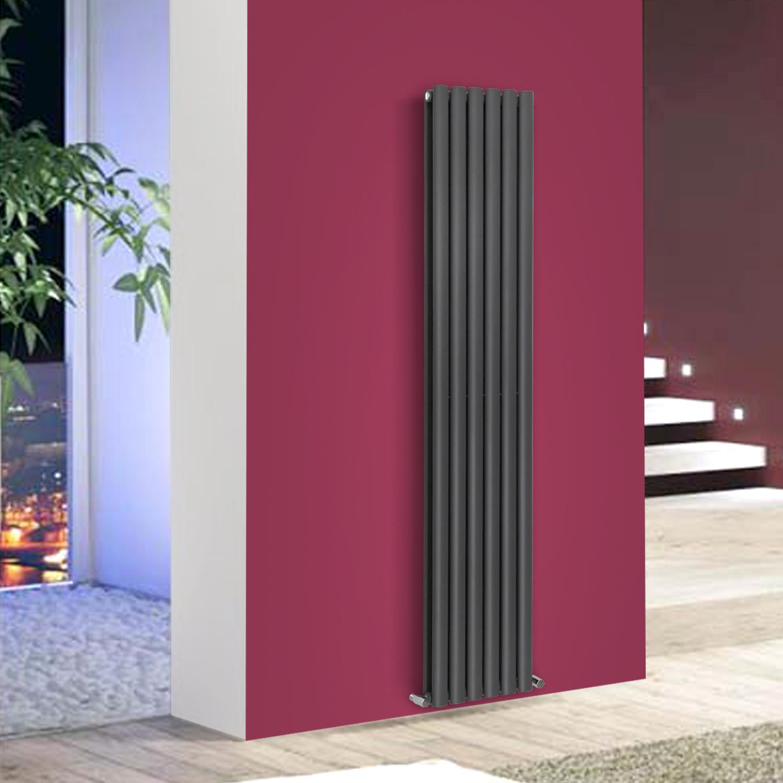 Vertical Designer Oval Panel Column Radiator Modern