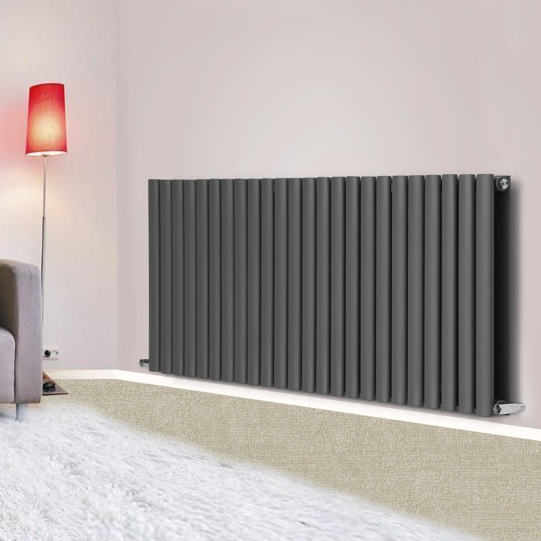 anthracite horizontal designer column radiator modern. Black Bedroom Furniture Sets. Home Design Ideas
