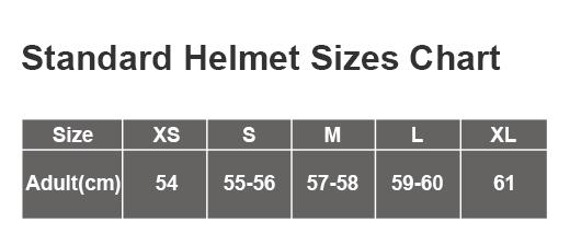 acu size chart
