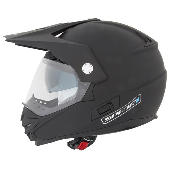 Dirt Bike Helmet With Visor >> Details About Spada Intrepid Motorcycle Motocross Helmet Dirt Bike Enduro Off Road Matt Black