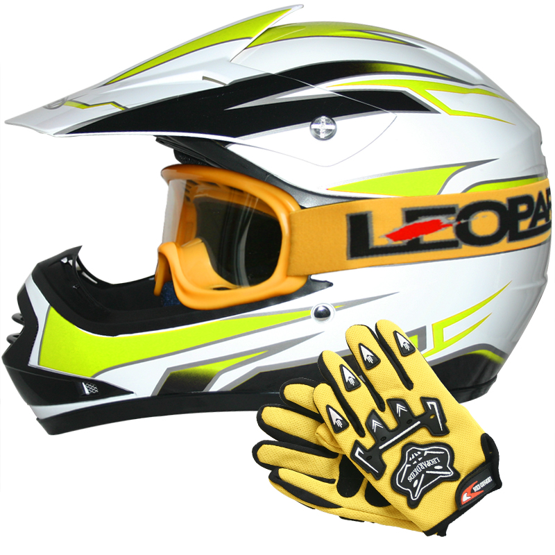leopard leo x16 casque cross bol de moto enfants off road quad gants lunettes ebay. Black Bedroom Furniture Sets. Home Design Ideas