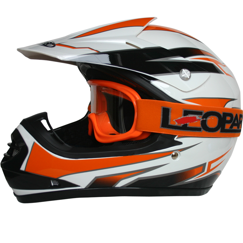 leopard leo x16 kinder motorradhelm crosshelm motocross. Black Bedroom Furniture Sets. Home Design Ideas