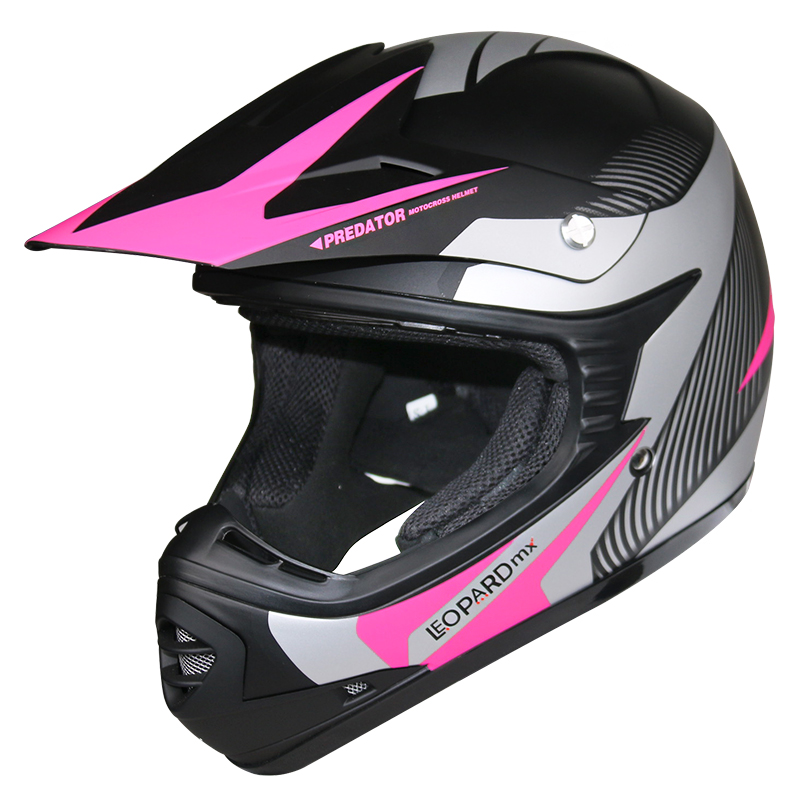 leopard kinder moto cross helm motorradhelm enduro quad. Black Bedroom Furniture Sets. Home Design Ideas