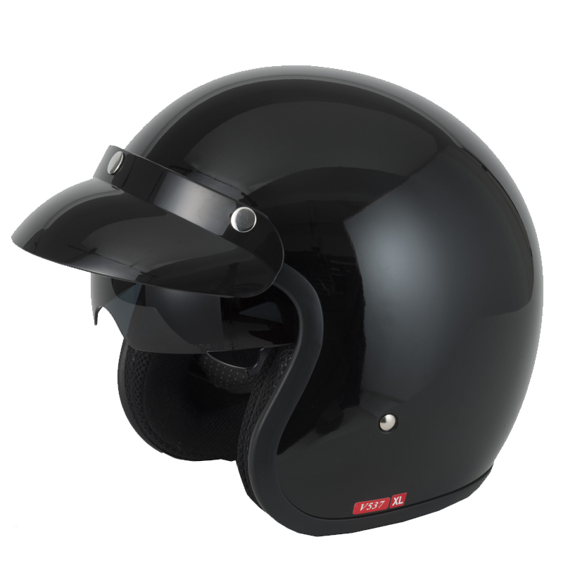 V-CAN-V537-Casque-Moto-Casque-Jet-Bol-ON-Road-Bleu-Rouge-Pare-soleil-integre
