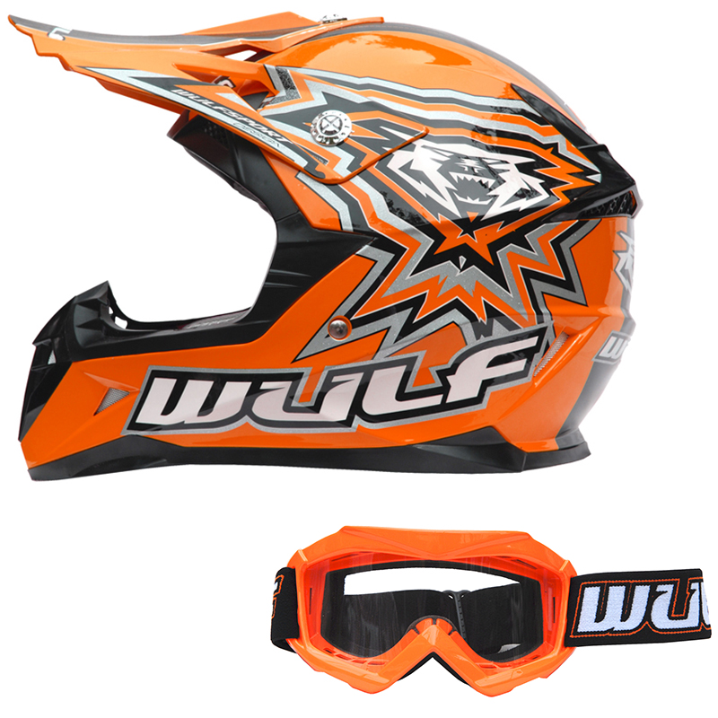 wulfsport flite kinder moto cross helm motorradhelm mit brille quad off road ebay. Black Bedroom Furniture Sets. Home Design Ideas