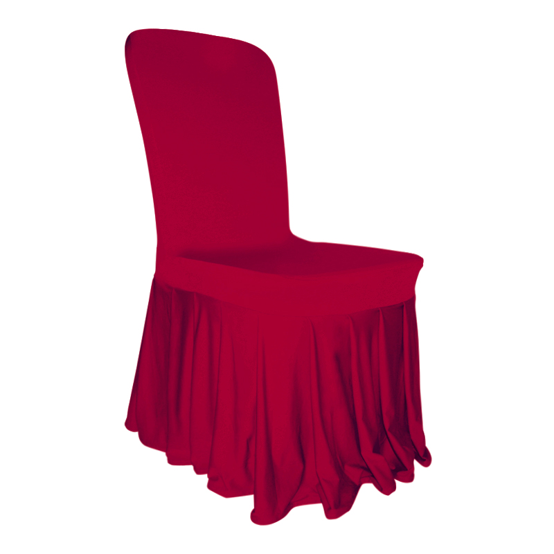 Pleated Skirt Chair Cover Lycra Spandex Wedding Party Banquets Decor 12 Colours Ebay