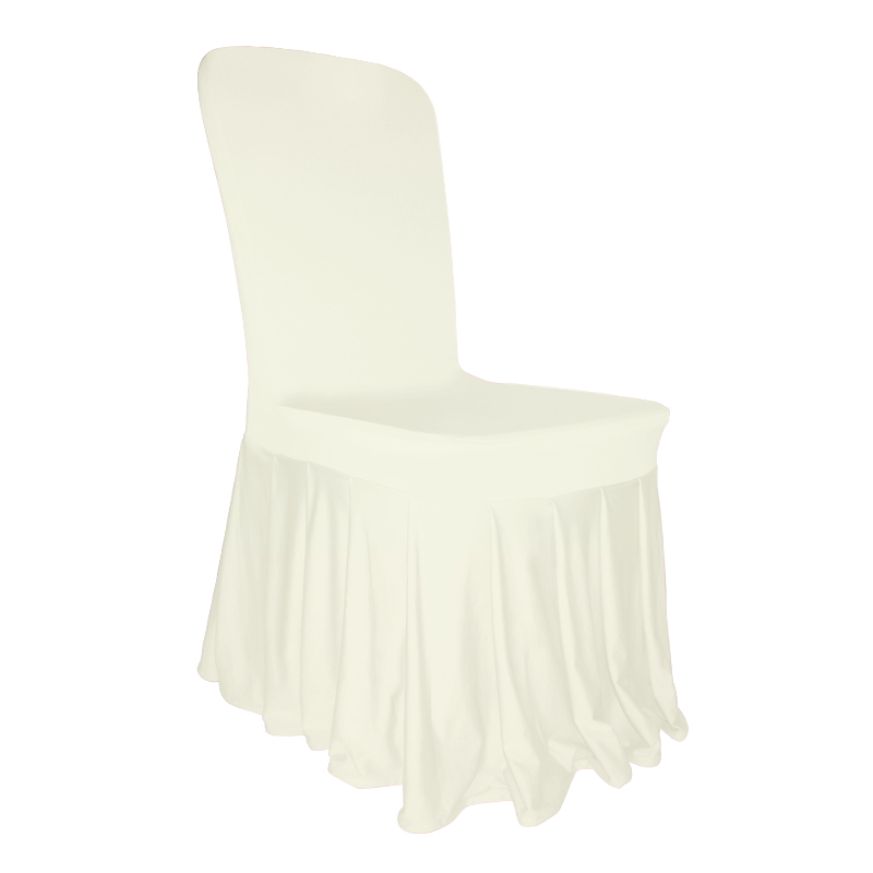 Pleated Skirt Chair Cover Lycra Spandex Wedding Party