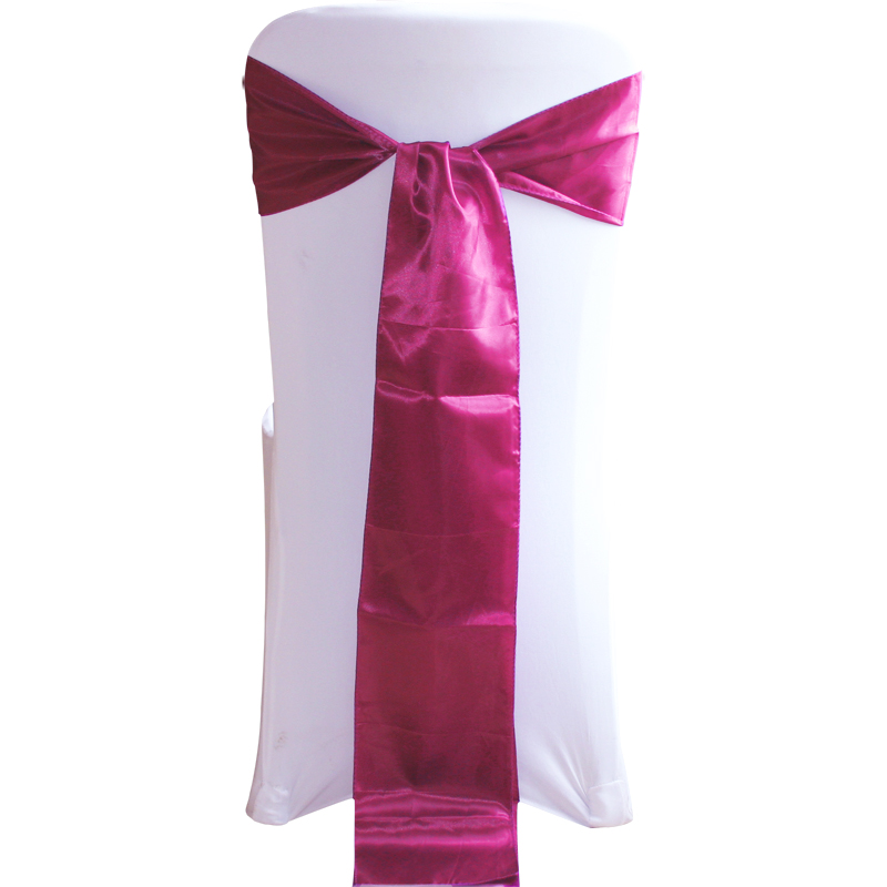 18x275cm satin sashes bows chair cover bow sash wedding