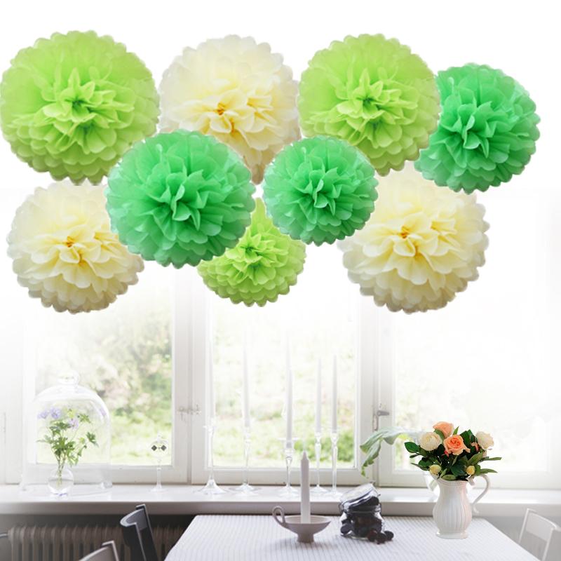 9 mixed tissue paper pompoms pom poms flower balls fluffy wedding 9 mixed tissue paper pompoms pom poms flower mightylinksfo