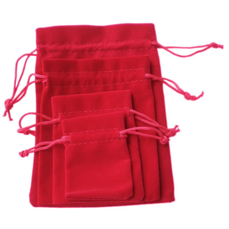 10pcs luxuery velvet jewellery packing drawstring pouches