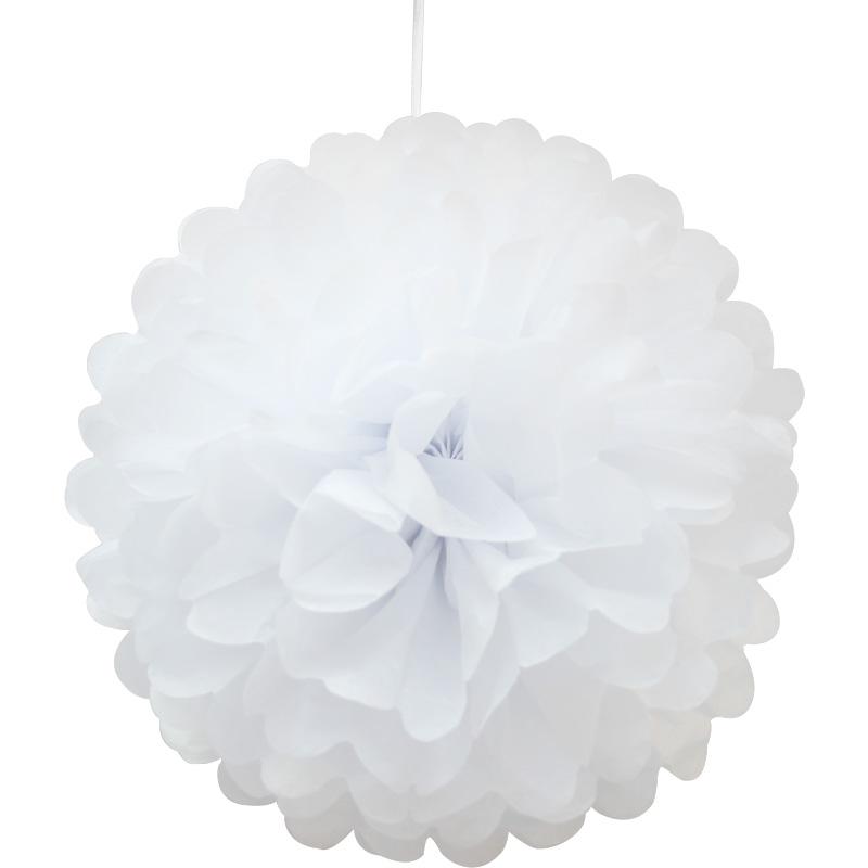 1 5 pompoms seidenpapier pompon papierblume handgefertigt hochzeit partei dekor ebay. Black Bedroom Furniture Sets. Home Design Ideas