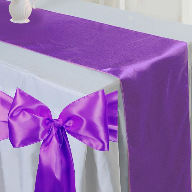 noeud de chaise satin chemin de table satin d 233 coration pour la mariage f 234 te ebay