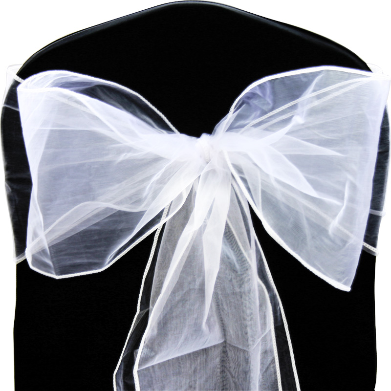 100x-Organza-Schleifenbaender-Dekostoff-Stuhlschleifen-Banquet-Schleifen-Hochzeit