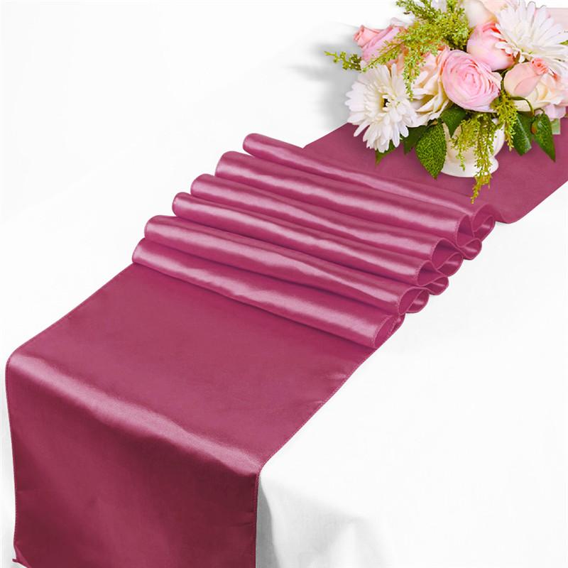 30x275cm chemin de table nappe satin d coration mariage f te banquet 20 couleurs ebay. Black Bedroom Furniture Sets. Home Design Ideas