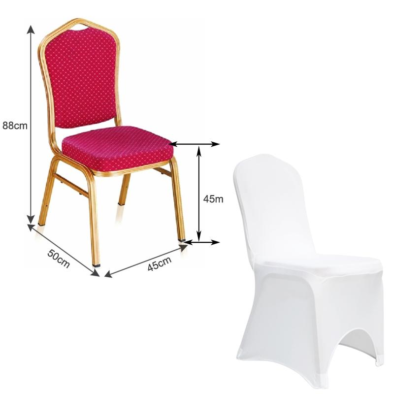 Location housse de chaise lycra extensible mariage blanc - Location housse de chaise lycra ...