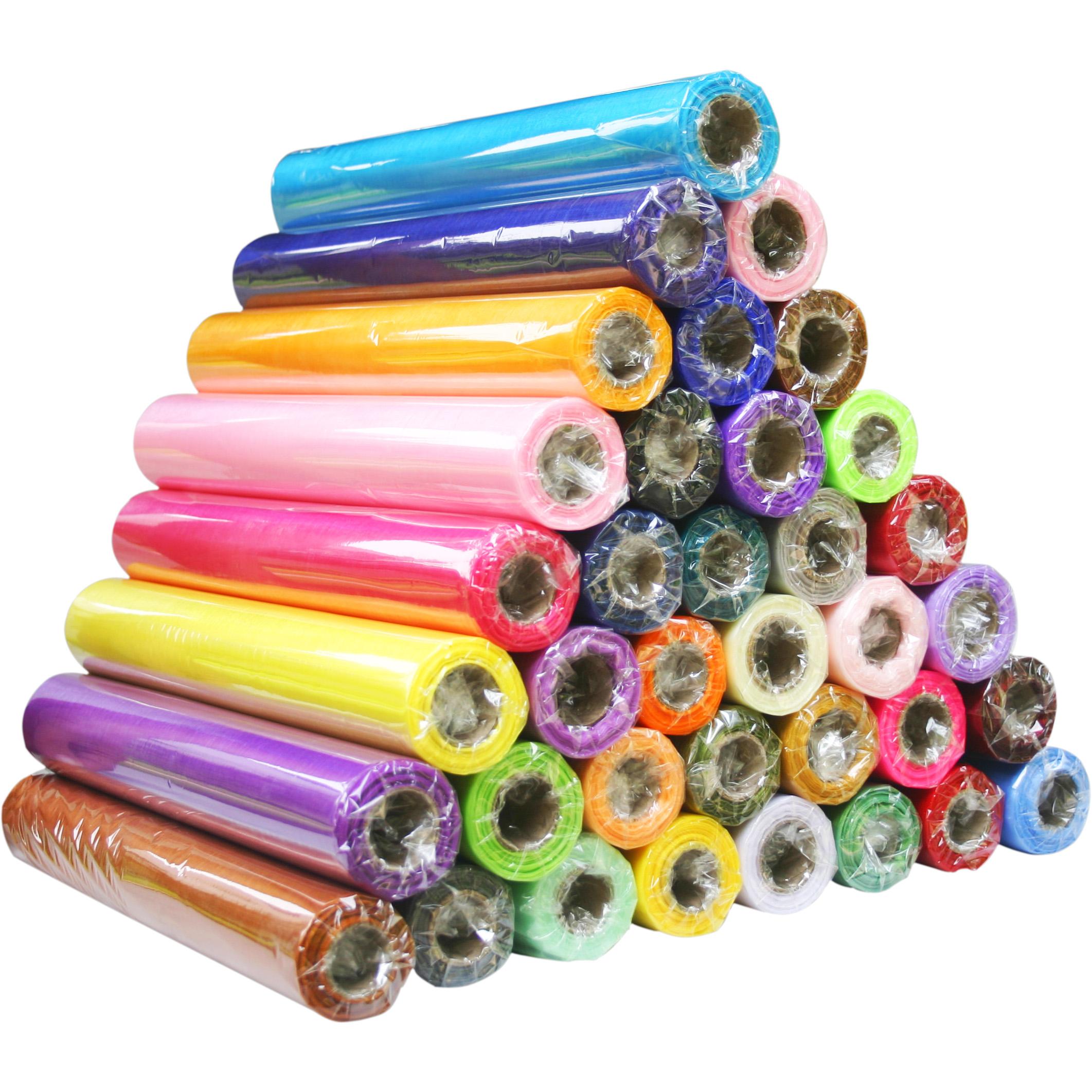 26m organza rolle stoff 29cm tischl ufer farben event deko hochzeit floristik ebay - Organza dekostoff rollen ...