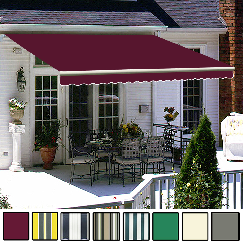 3.5 X 2.5m Awning Manual Garden Canopy Patio Sun Shade