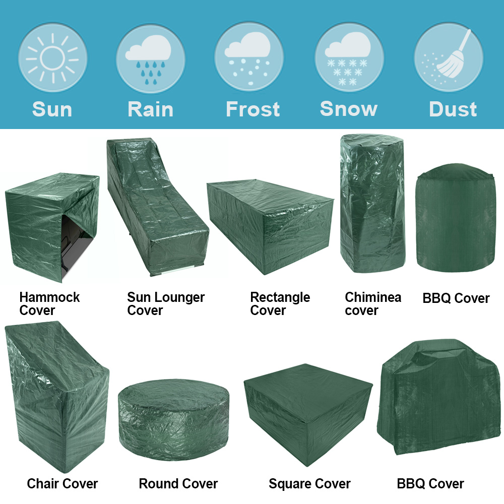 Garden Patio Furniture Cover Water Resistant For Table Chair Bench Hammock Bbq Ebay