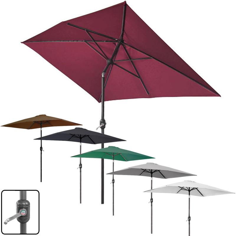 2x3m rectangle garden parasol umbrella patio sun shade aluminium crank tilt ebay. Black Bedroom Furniture Sets. Home Design Ideas