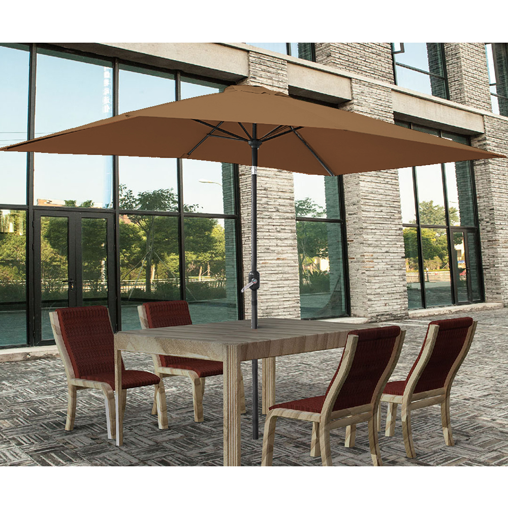2x3m Rectangle Garden Parasol Umbrella Patio Sun Shade