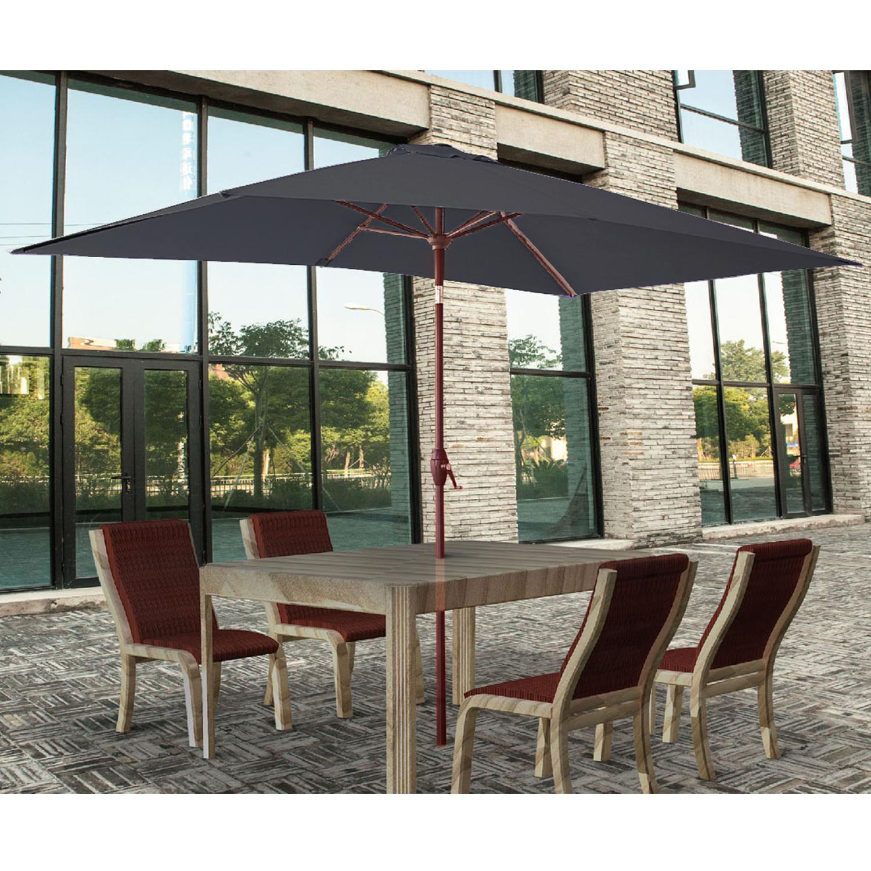 2x3m Rectangle Garden Parasol Umbrella Patio Sun Shade Aluminium