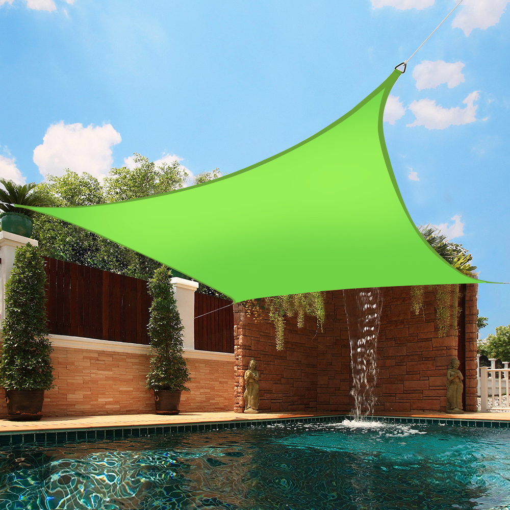 sun shade sail garden patio swimming pool sunscreen awning canopy 98 uv block ebay. Black Bedroom Furniture Sets. Home Design Ideas
