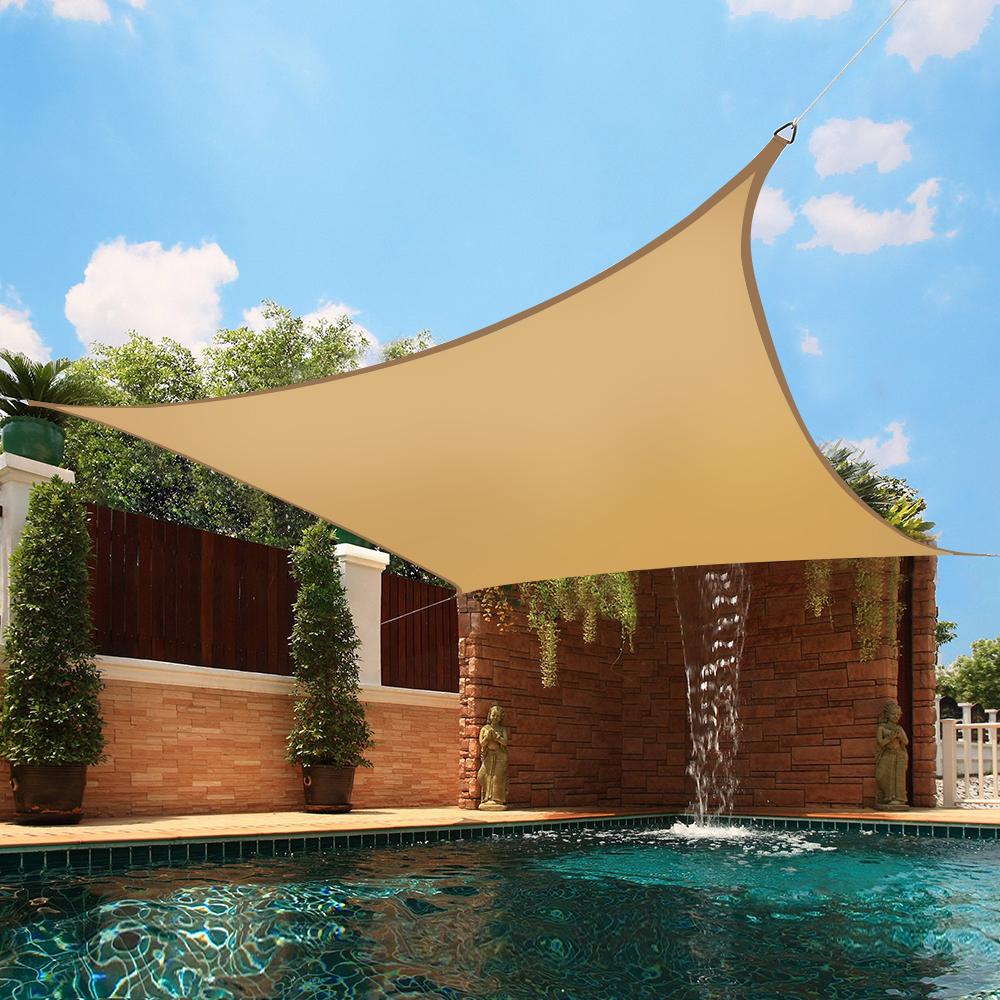 4x4m sun shade sail garden patio yard awning canopy for Colorado shade sail
