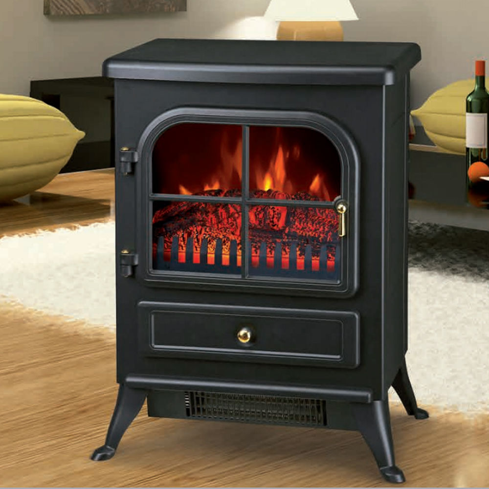 Modern Electric Fireplace Heater Fire Place Flame Effect