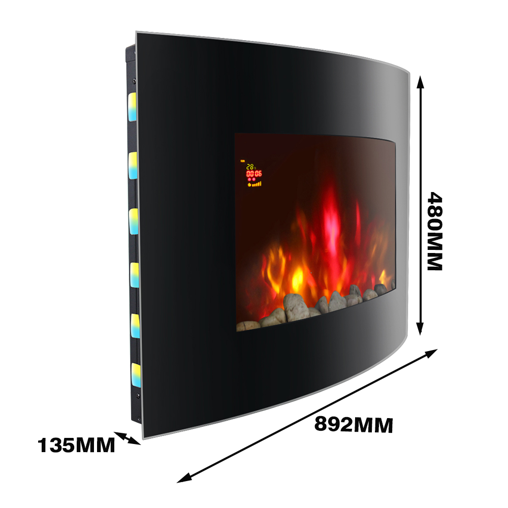 thumbnail 12 - Modern Electric Fireplace Heater Fire Place Flame Effect Stove Living Room
