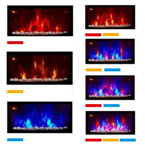 thumbnail 16 - Modern Electric Fireplace Heater Fire Place Flame Effect Stove Living Room