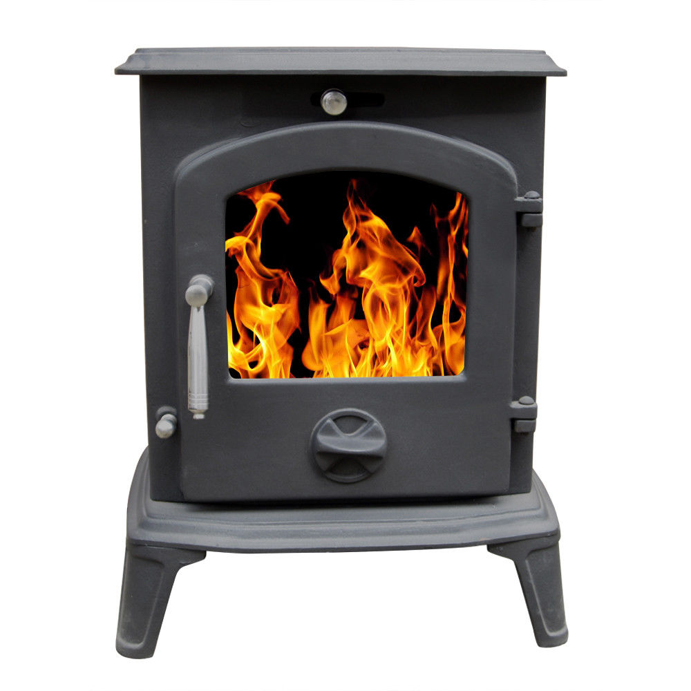 5 5kw Multifuel Clean Burn Woodburners Cast Iron Log