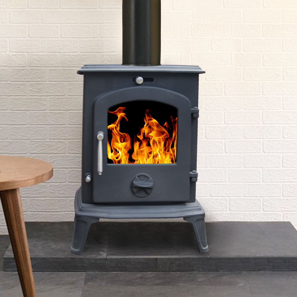 5 5kw Small Modern Clean Burn Multi Fuel Wood Log Burner