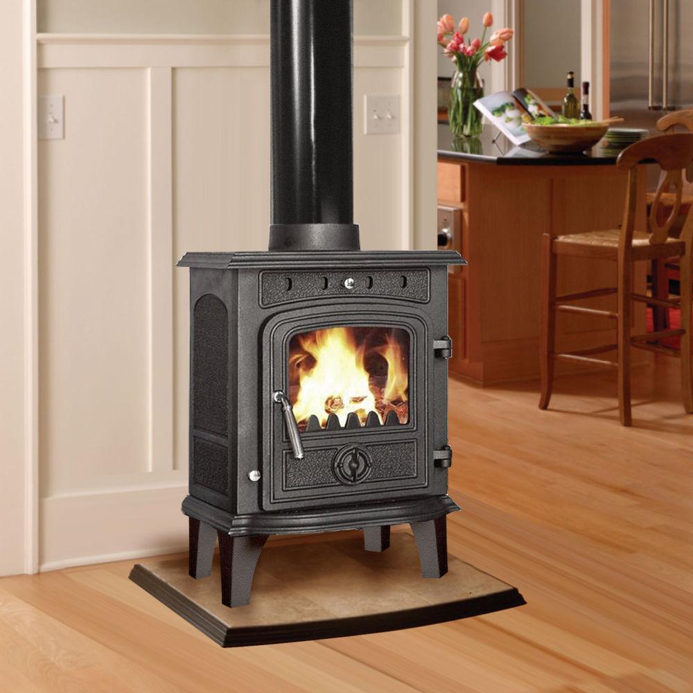 4 5kw Greetwell Modern Multifuel Log Burning Cast Iron