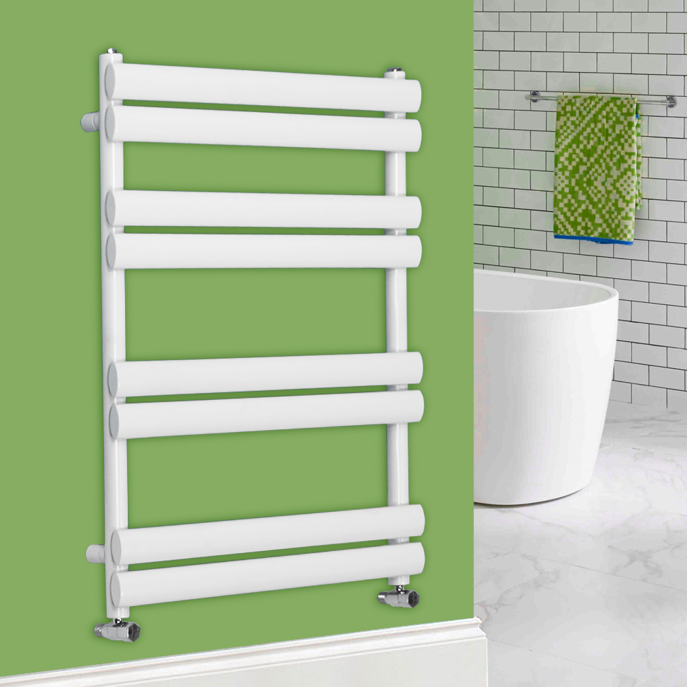 Heated Towel Rail Oval Column Rad Radiator Bathroom Heater Towel Warmer White