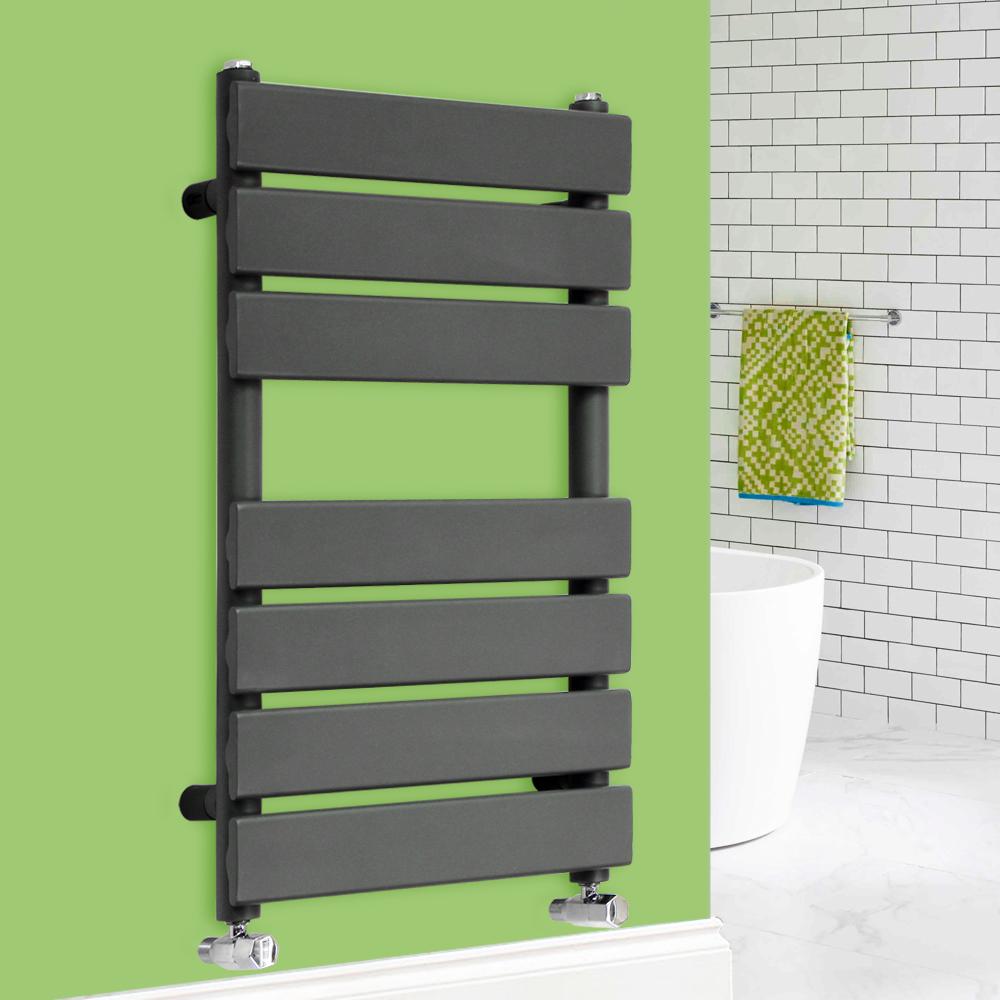 Anthracite Designer Flat Panel Towel Rail Radiator