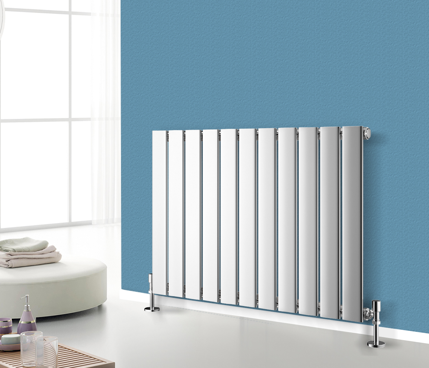 Horizontal Flat Panel Column Designer Radiators Central Heating + ...