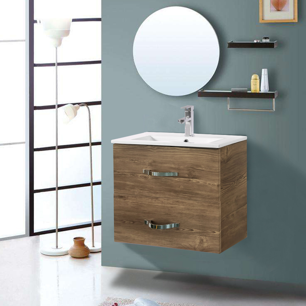 GREY OAK Bathroom Cabinet Wall Storage Unit Easy To Assemble