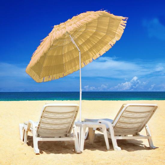 Patio Garden Beach Hawaiian Parasol Outdoor Sun Shade Sun