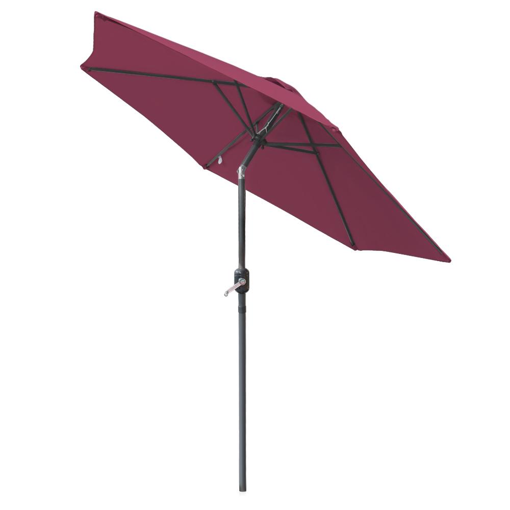 2 5m Round Garden Parasol Patio Outdoor Sun Shade Umbrella