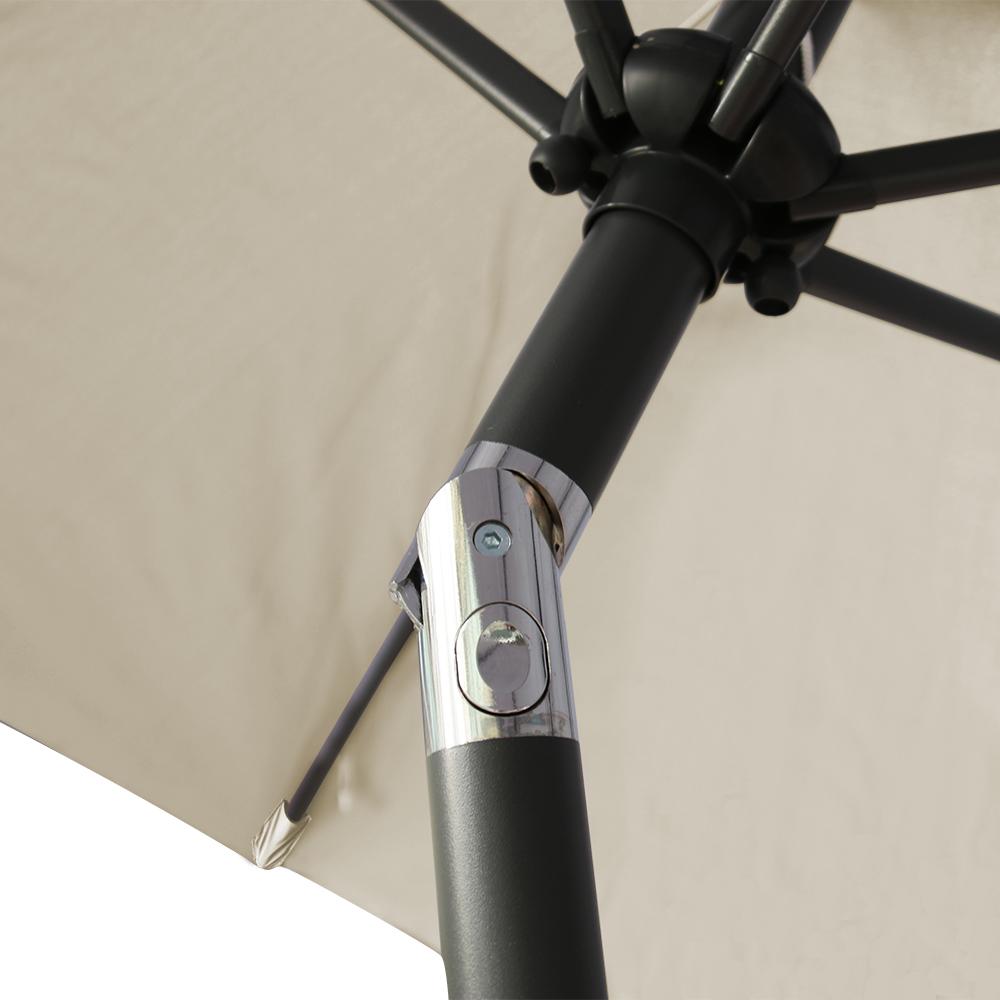 Aluminium 3m Large Round Garden Parasol Canopy Patio Sun Shade Umbrella Cover Ebay