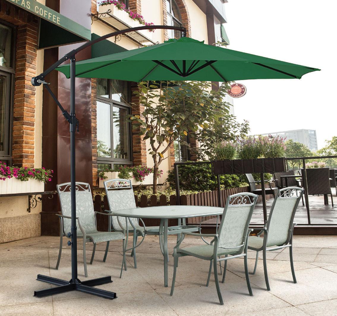 3M Garden Parasol Sun Shade Patio Banana Crank Cantilever Hanging ...