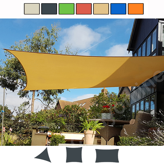 Outdoor Shade Sail Patio Suncreen Awning Garden Sun Canopy
