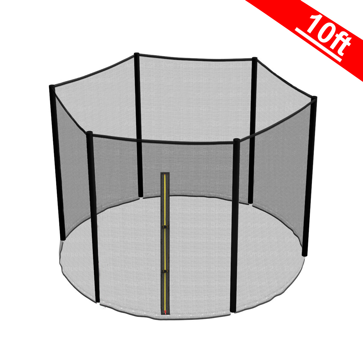 10ft 6 Pole Trampoline Replacement Safety Net Enclosure