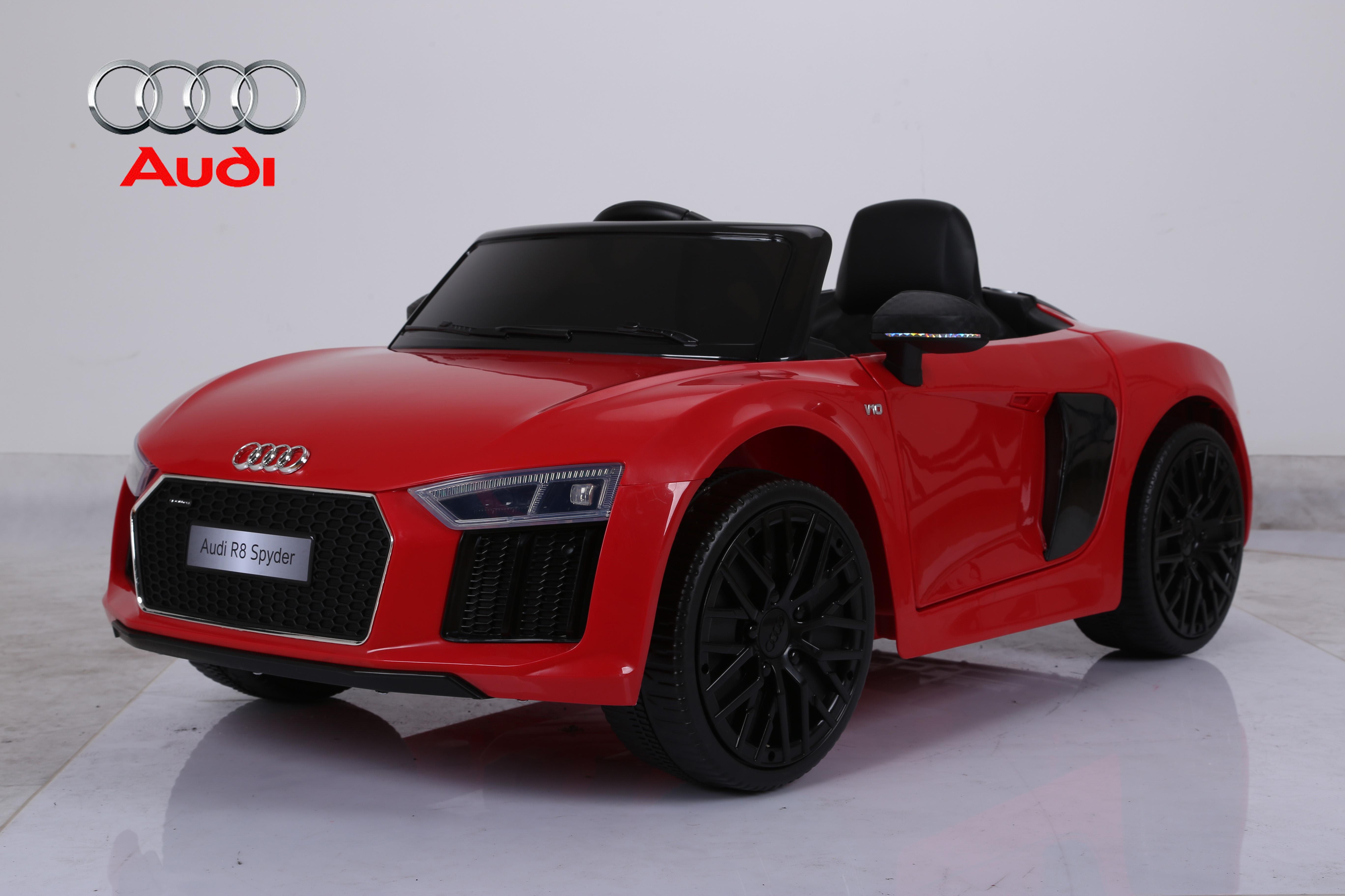 Audi R Licensed Kids Ride On Car V Remote Control Cars Red - Red audi r8