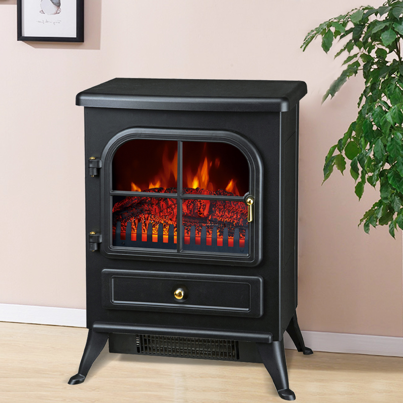 electric xtraslim bi fireplace full black blue frame amantii room