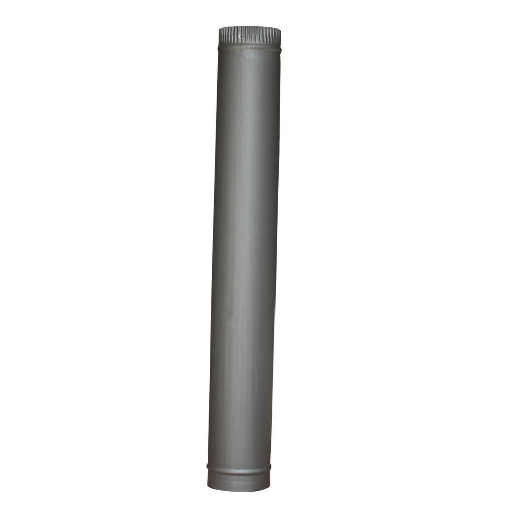 5 Quot 125mm 6 Quot 150mm Chimney Flue Pipe For Wood Log Burning