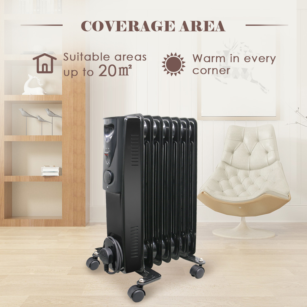 Oil Filled Radiator 7 Fin 1 5kw Portable Electric Heater