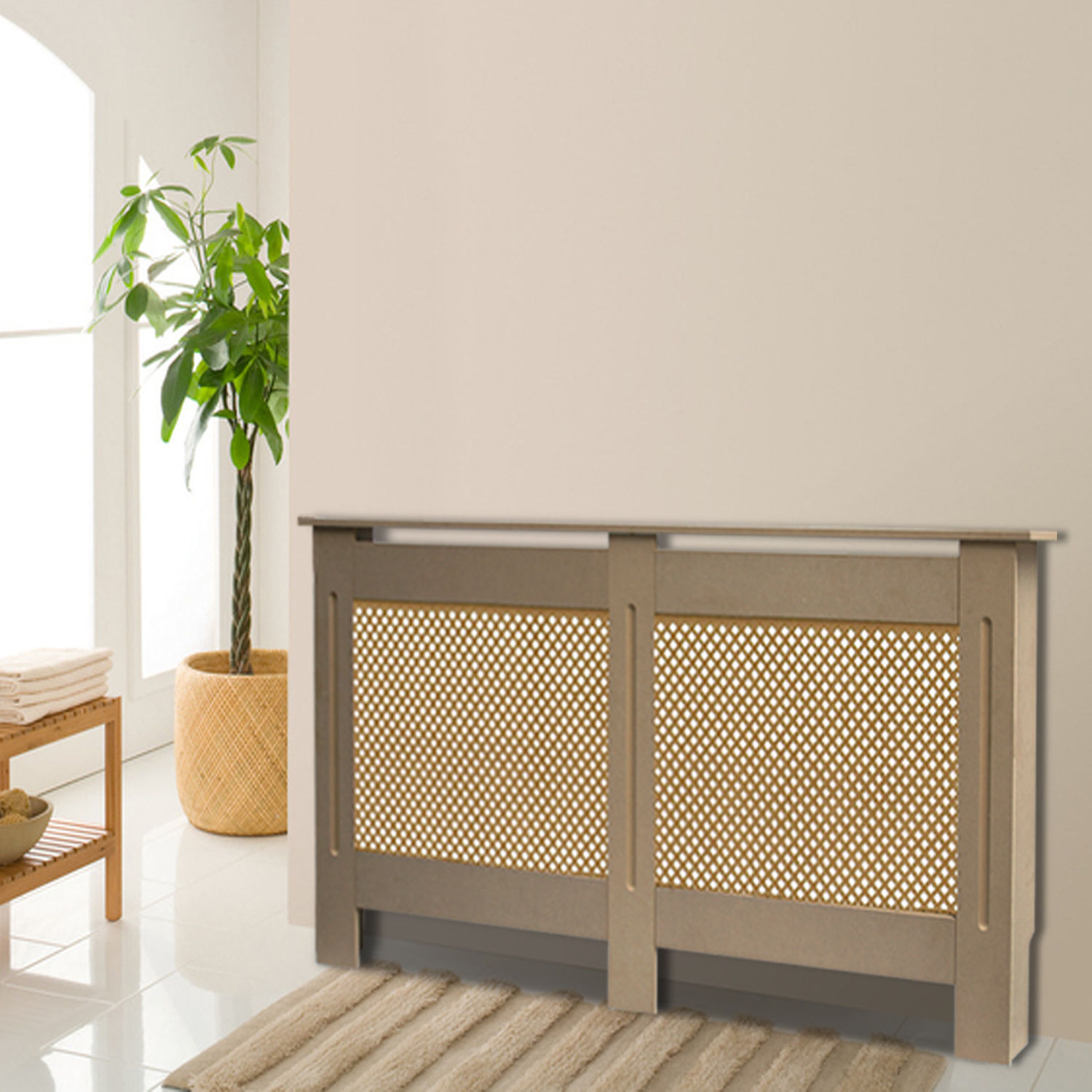 Large Unpainted Radiator Cover Modern Mdf Wood Radiator