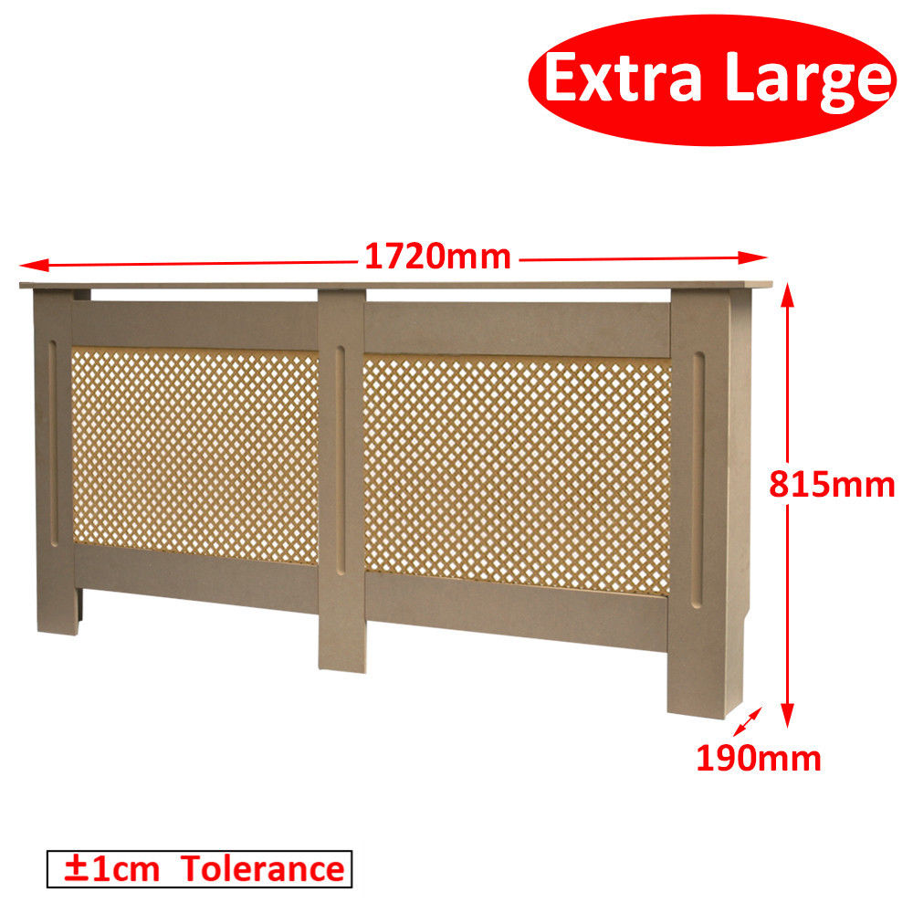 Natural Extra Lzrge Radiator Cover Modern Mdf Wood