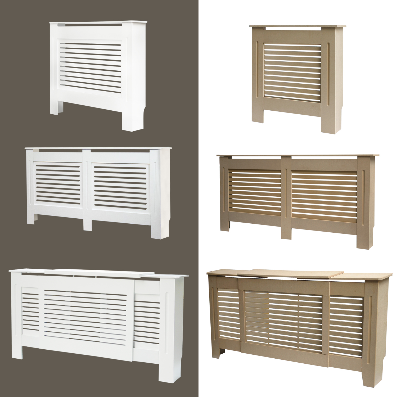 Modern Radiator Cover Wall Cabinet Mdf Horizontal Slats